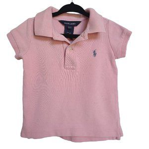 RALPH LAUREN Pink Collared Polo 2T
